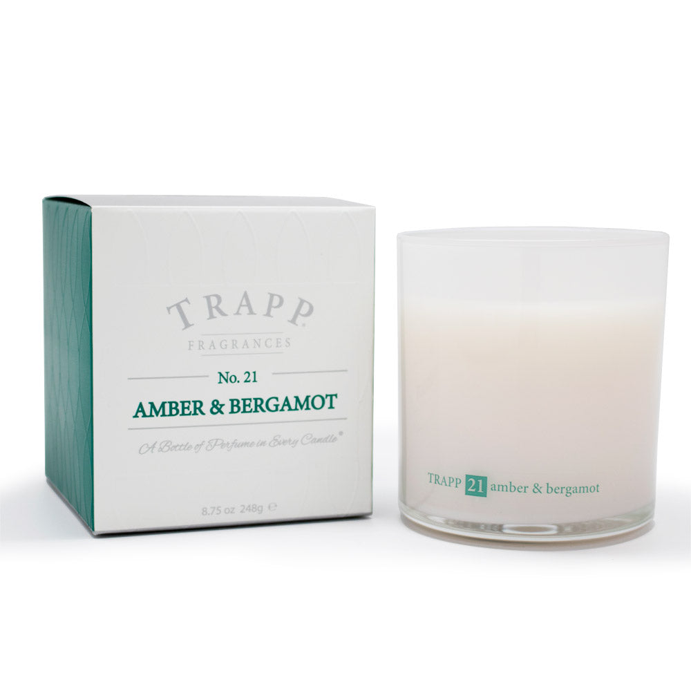 Ambiance Collection - No. 21 Amber Bergamot - 8.75oz. Poured Candle