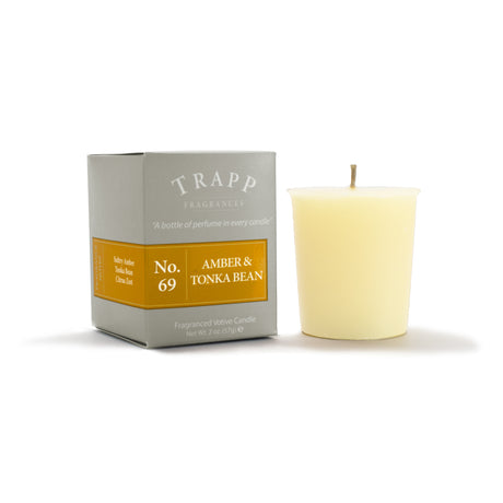 No. 69 Amber & Tonka Bean - 2oz. Votive Candle