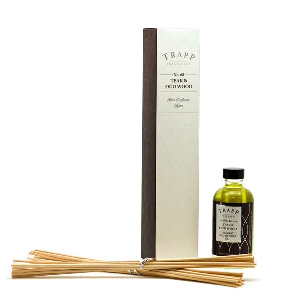 No. 68 Teak & Oud Wood  - Refill Diffuser 4oz.