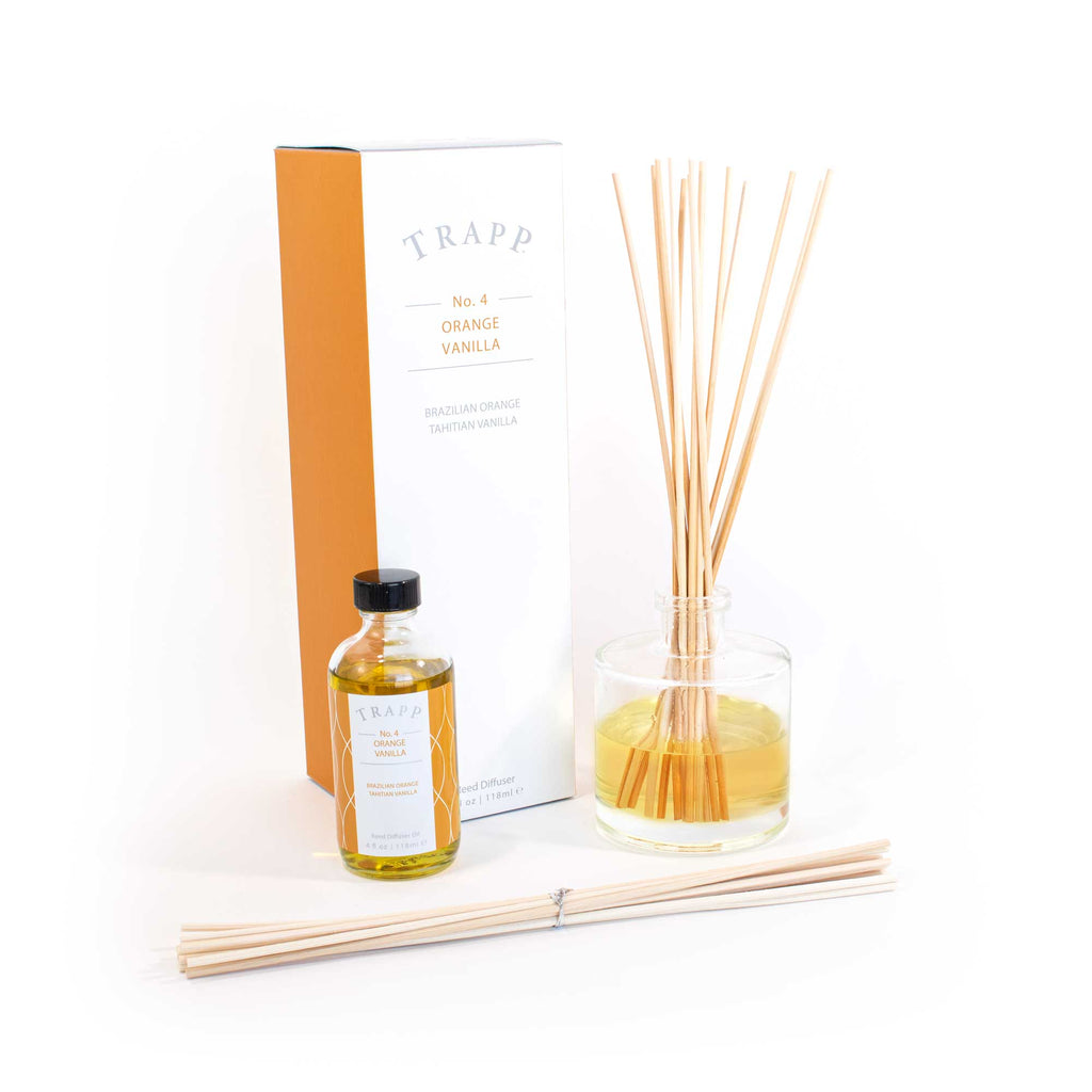 No. 4 Orange Vanilla - 4 oz Diffuser Kit