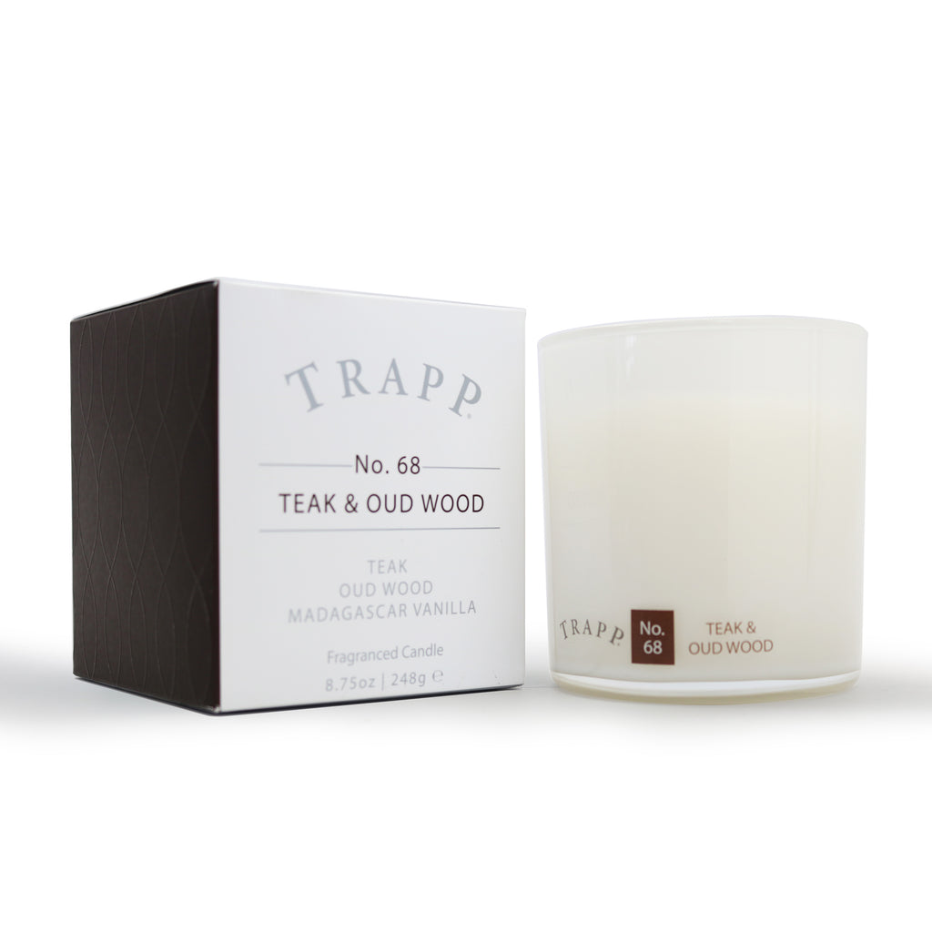 Ambiance Collection - No. 68 Teak and Oud Wood - 8.75 oz. Poured Candle