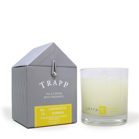 Trapp 7 oz. Large Poured Candle - <br> No. 10 Lemongrass Verbena