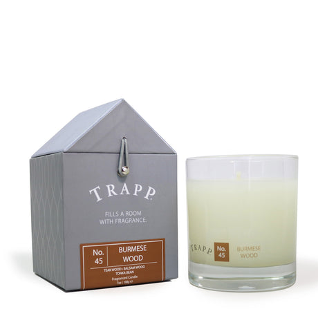 Trapp 7 oz. Large Poured Candle - <br> No. 45 Burmese Wood