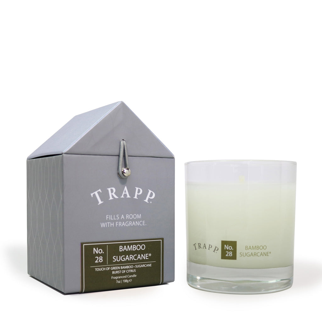 Trapp 7 oz. Large Poured Candle - <br> No. 28 Bamboo Sugar Cane