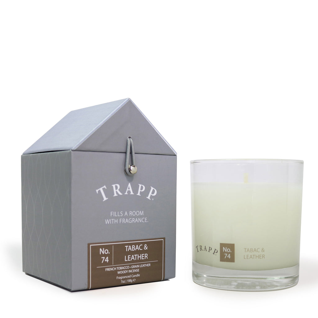 Trapp 7oz. Large Poured Candle No. 74 Tabac & Leather
