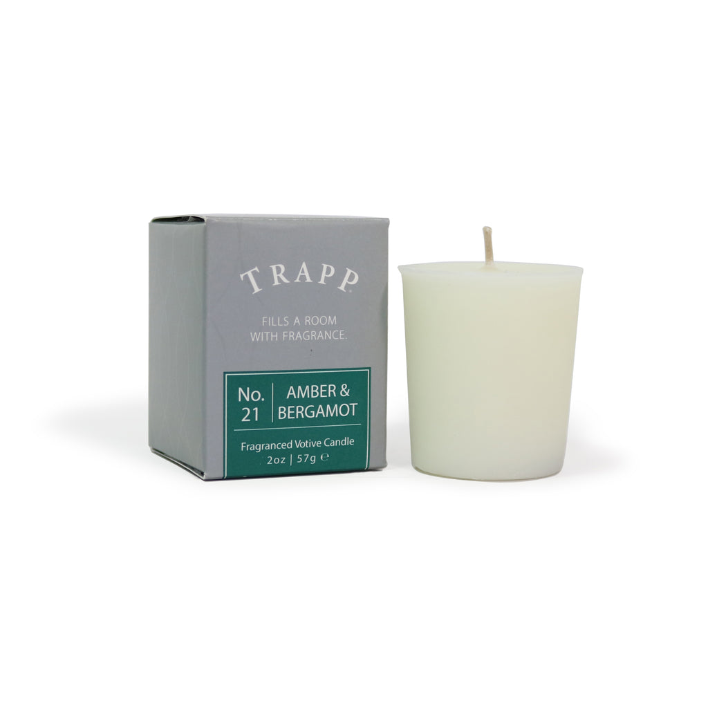 No. 21 Amber & Bergamot - 2 oz. Votive Candle