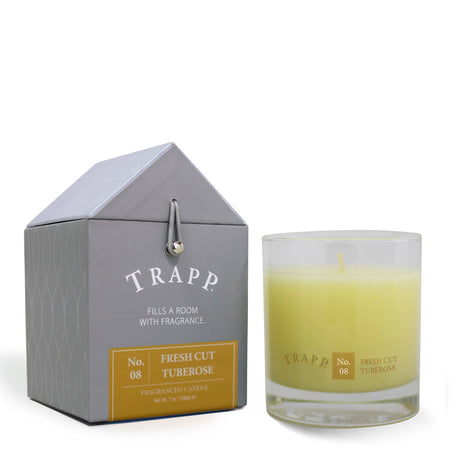 Trapp 7 oz. Large Poured Candle - <br> No. 8 Fresh Cut Tuberose