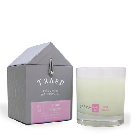 Trapp 7 oz. Large Poured Candle - <br> No. 63 Pure Peony