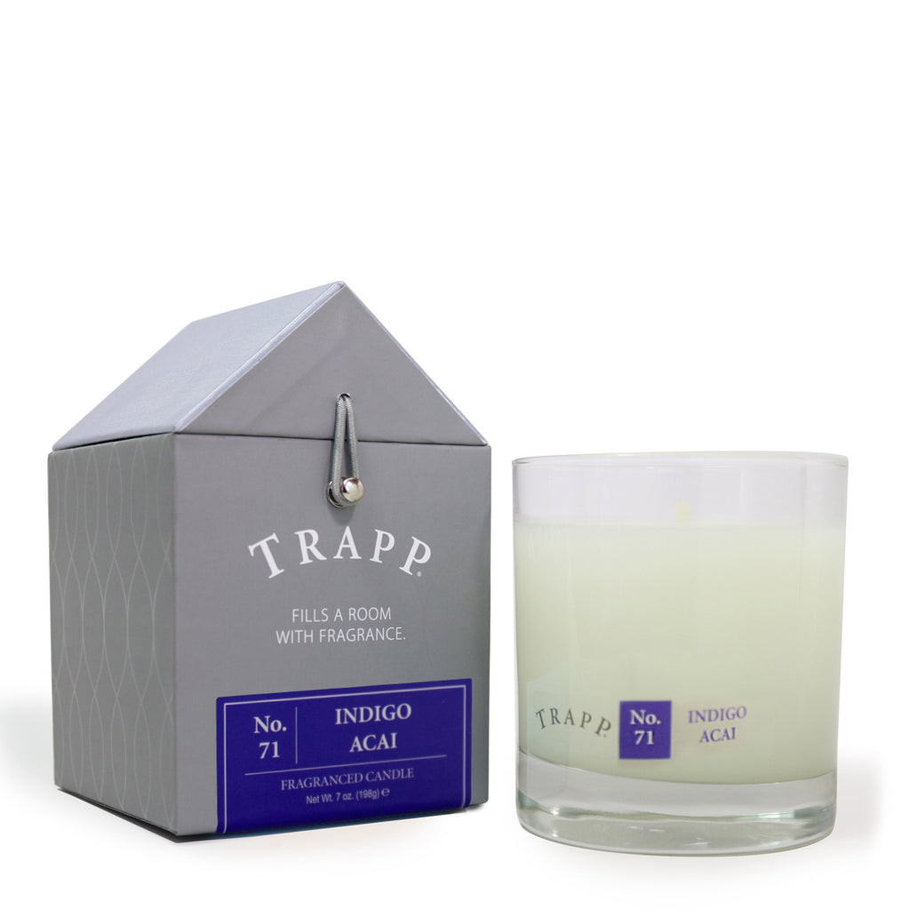 Trapp 7 oz. Large Poured Candle - <br> No. 71 Indigo Acai