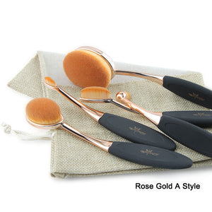5 Piece Oval Makeup Brush Kit