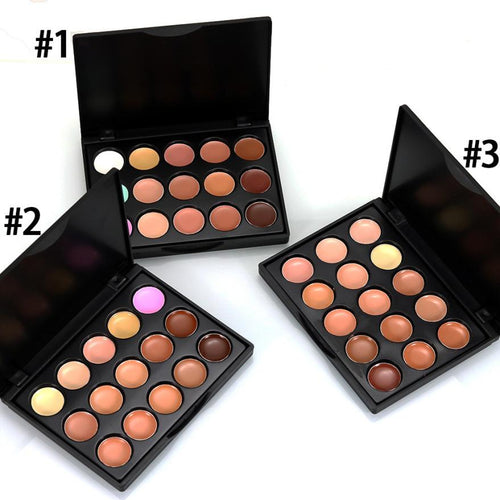 15 Color Concealer Makeup Palette - 3 Options