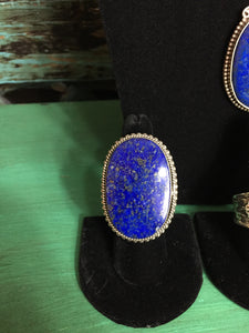 Huge Lapis ring