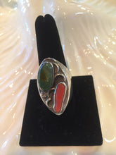 Vintage Turquoise and Corral ring