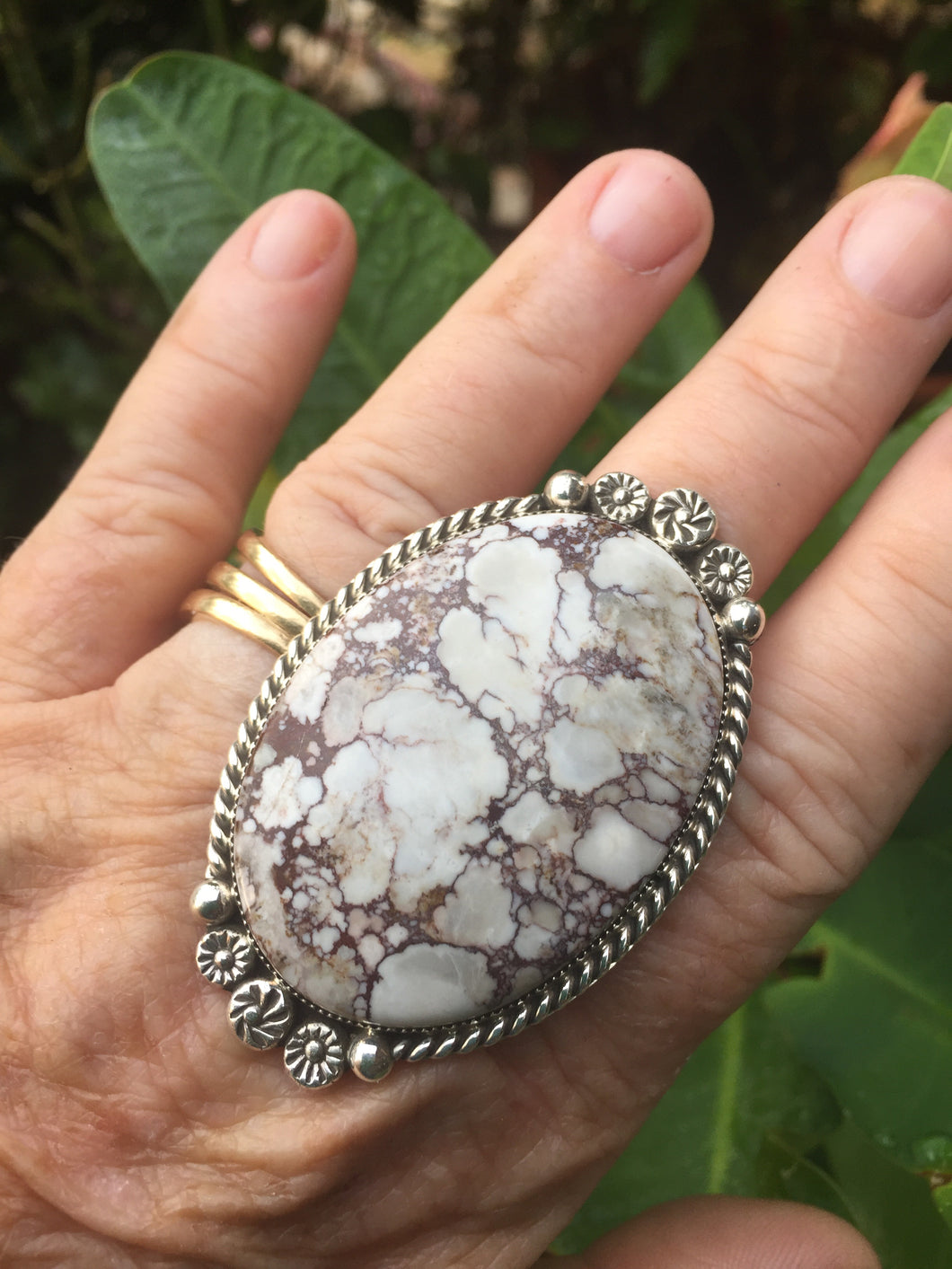 Huge Oval Wild Horse stoned ring