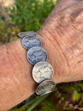 Mercury Dime bracelet with turquoise ends