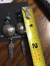 JM Earrings with feather
