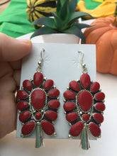 """Firecracker Red"" earrings"