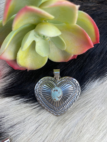 """The Heart Dry Creek Turquoise Pendant"""