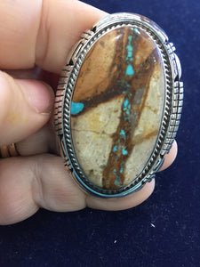 The Giraffe Boulder Turquoise ring