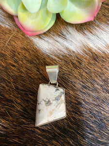 The Small White Buffalo sterling silver droplet