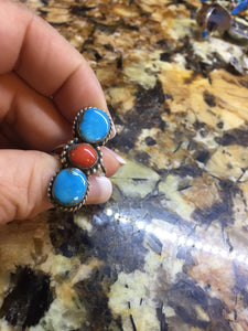 Vintage Turquoise, coral  #8