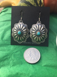 """ The  Dish"" concho earrings"