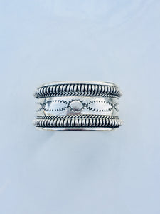 Double Ropes Sterling Silver Tooled Cuff