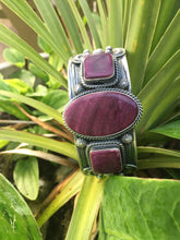 """The  War Bonnet"". Purple spiny bracelet"