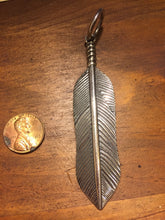 Solid Sterling Silver feather