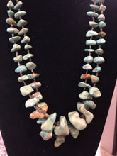 Double strand green Turquoise nugget necklace