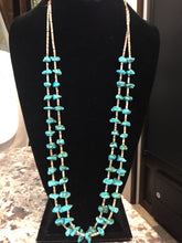 "Double strand ""baby Tears Turquoise necklace"