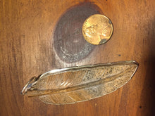 Sterling Silver Jasper carved feather