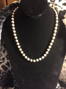 Oval Sterling silver Navajo pearls
