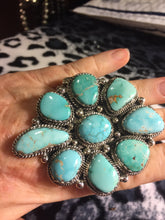 Huge Royston Turquoise Flower Cluster Ring