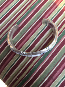 """Inlay White Buffalo bracelet"""