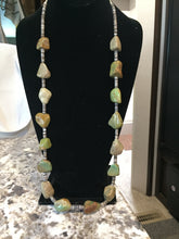30 inch Colorado Green Nugget Turquoise necklace