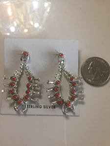 Red Coral squash earrings