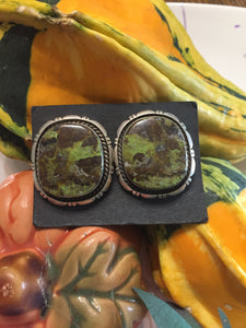 """The Landscape"" green Turquoise earrings"