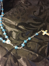 Crystal and Turquoise Sterling silver rosary
