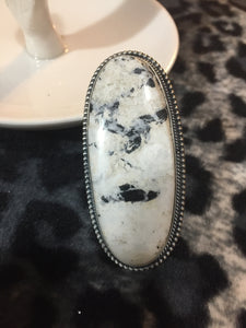 """Endless Frost""/ white Buffalo Turquoise"