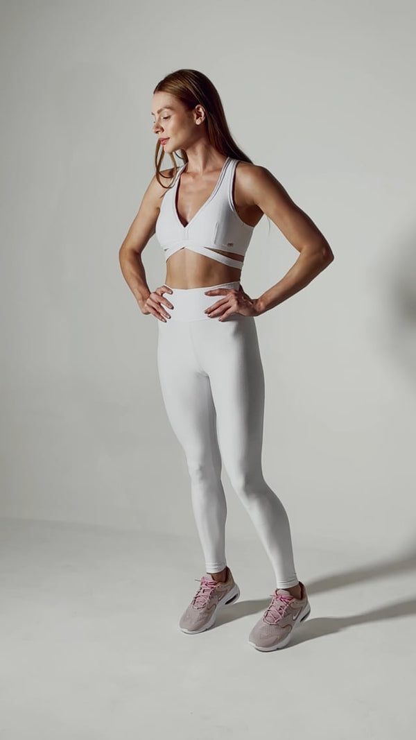 High Waist Leggings Compression RK Arctic White