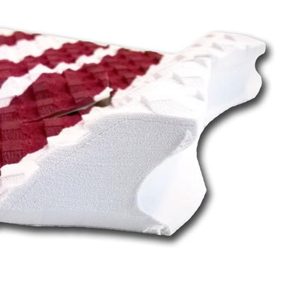 Short Board 3 piece Traction Pad - White / Maroon