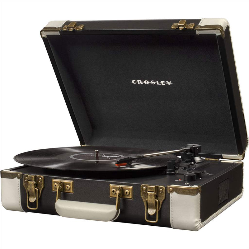 Crosley CR6019D-BK Bluetooth Executive USB Turntable - Black & White