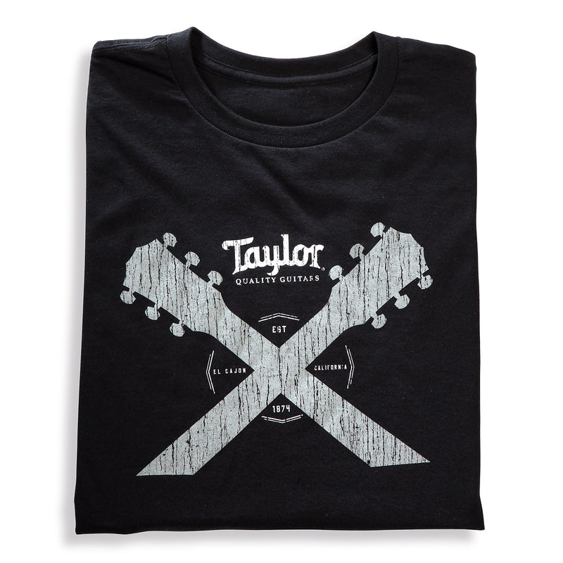 Taylor Double Neck T-Shirt, Black/Grey - L (15816)