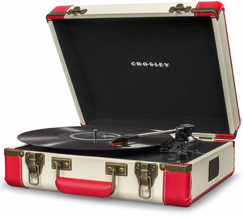 Crosley CR6019D-RE Bluetooth Executive USB Turntable - Red & Cream