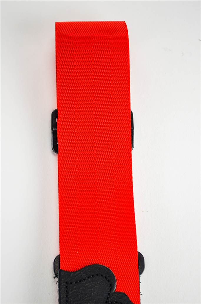 "Franklin 0-R-BK Red Nylon 2"" Aviator Seatbelt Guitar Strap"