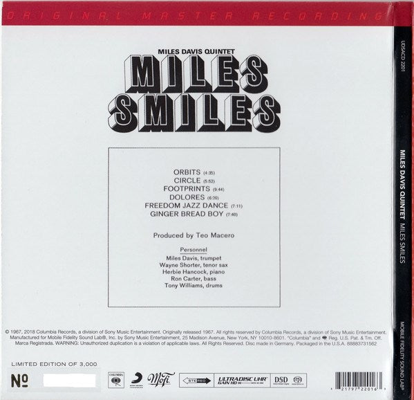 Miles Davis Quintet - Miles Smiles [SACD] (Hybrid SACD, limited/numbered to 3000)