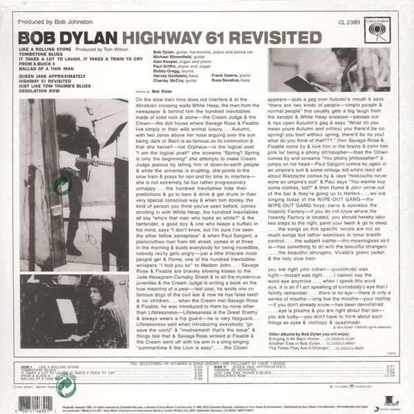 Bob Dylan - Highway 61 Revisited [2LP]