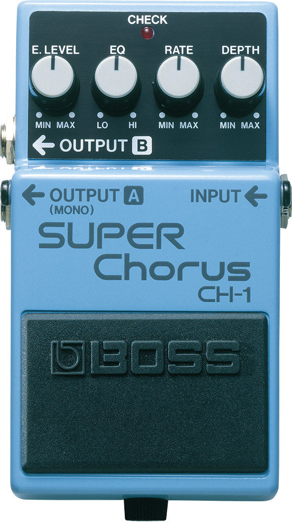 Boss CH-1 Stereo Super Chorus Pedal Front