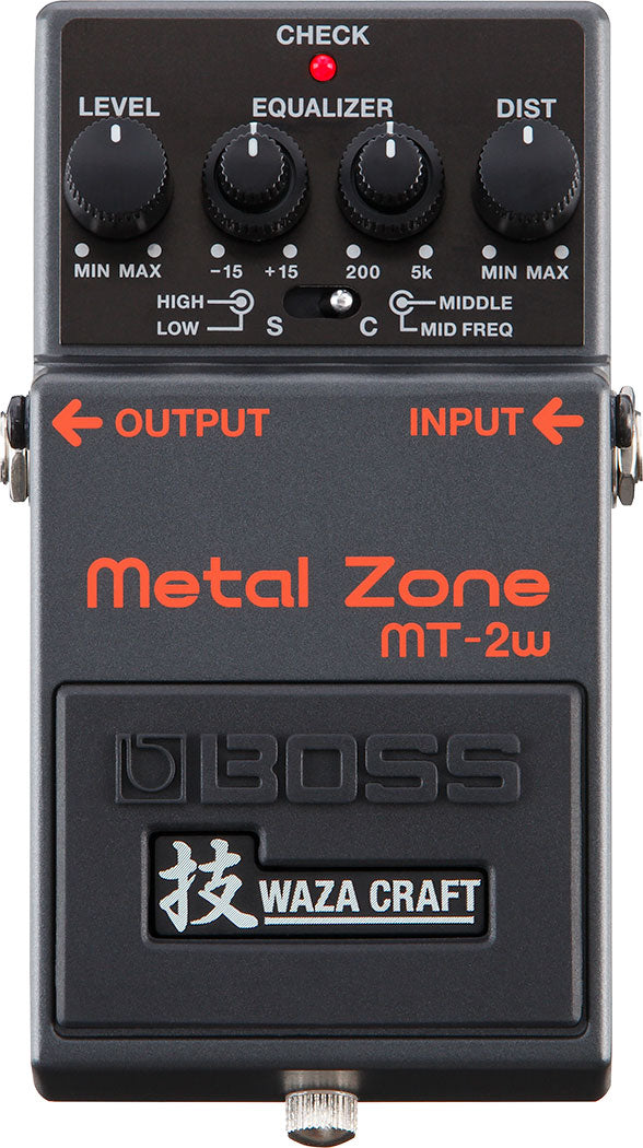 Boss MT-2W Metal Zone Pedal Waza Craft Front